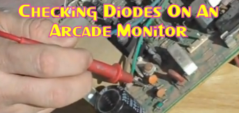 Checking Diodes On An Arcade Monitor
