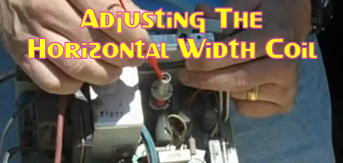 Adjusting The Horizontal Width Coil