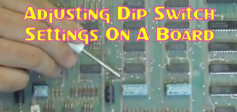 Adjusting Dip Switch Settings On A Board