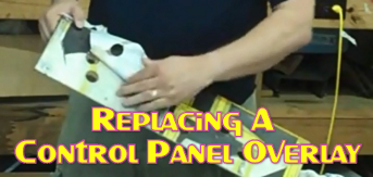 Replacing A Control Panel Overlay
