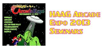 HAAG Arcade Expo 2013 Seminars