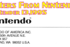 Letters From Nintendo (September 13, 1995)
