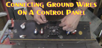 Connecting Ground Wires On A Control Panel