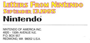 Letters From Nintendo (September 13, 1995)